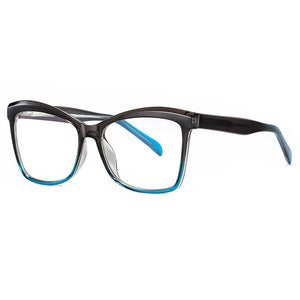 blue square sunglasses with thick temple arms