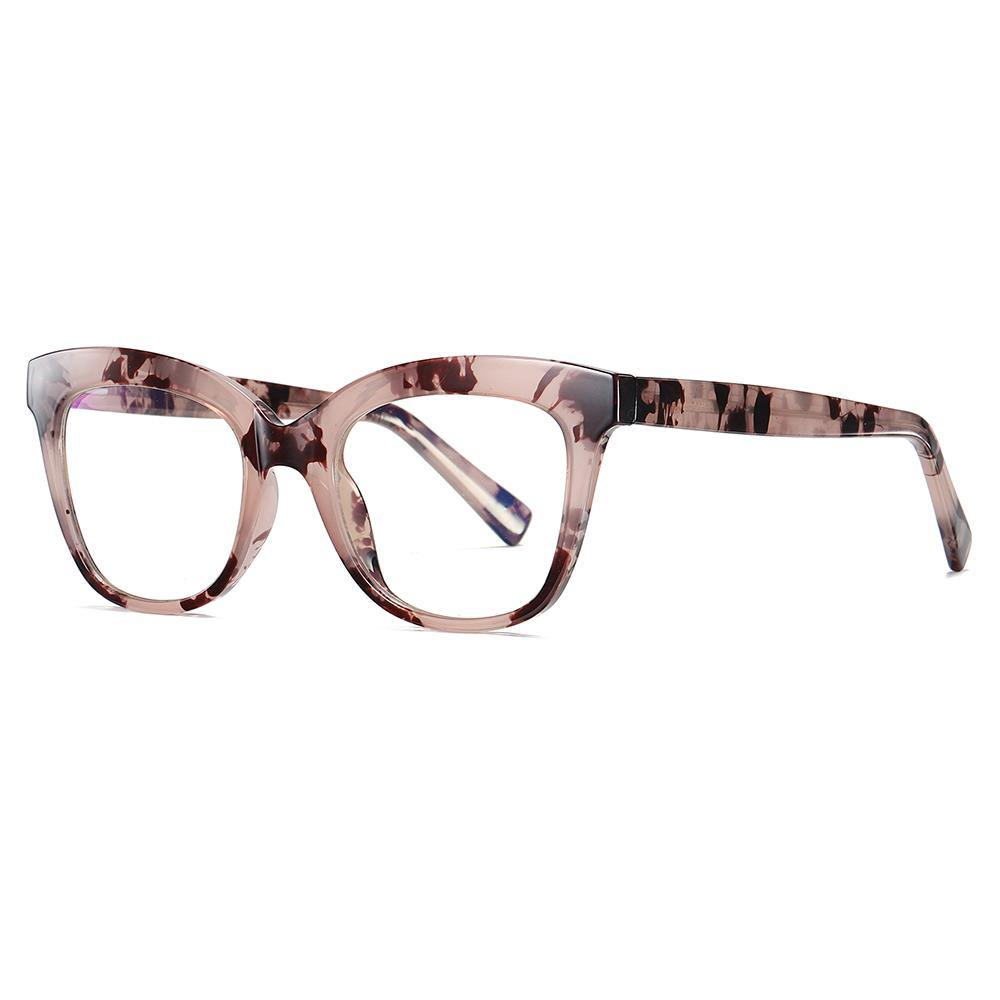 brown floral frame color in square shape, slight cat eye style glasses 3505