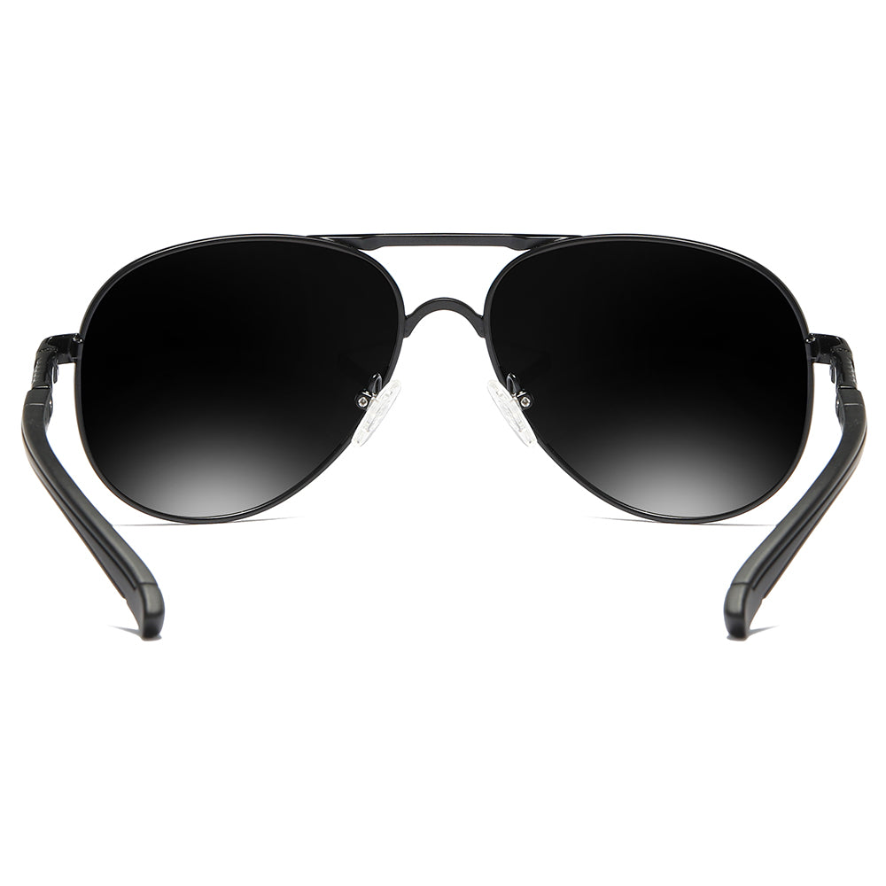 cheap aviator sunglasses with black tinted lens and temple arms