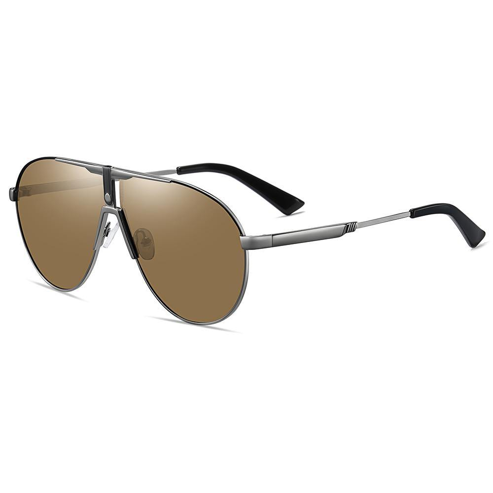 cheap brown tinted lens sunglasses with silver temple arms