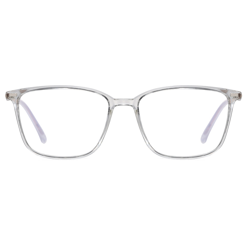 Transparent Rectangle frames shape eyeglasses for men