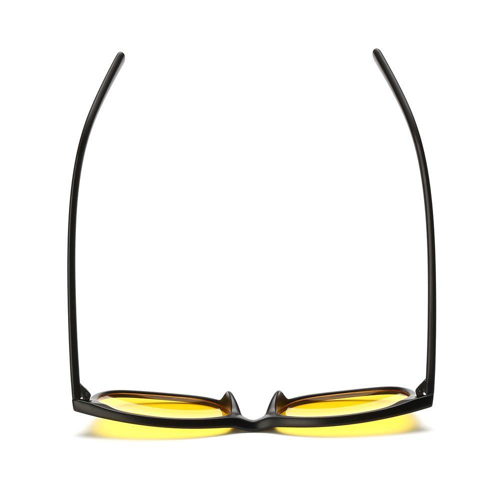 yellow tinted lens for computer use, black frames for men and women