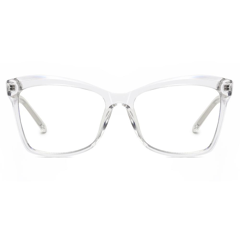 square eyeglasses with cystal clear frames