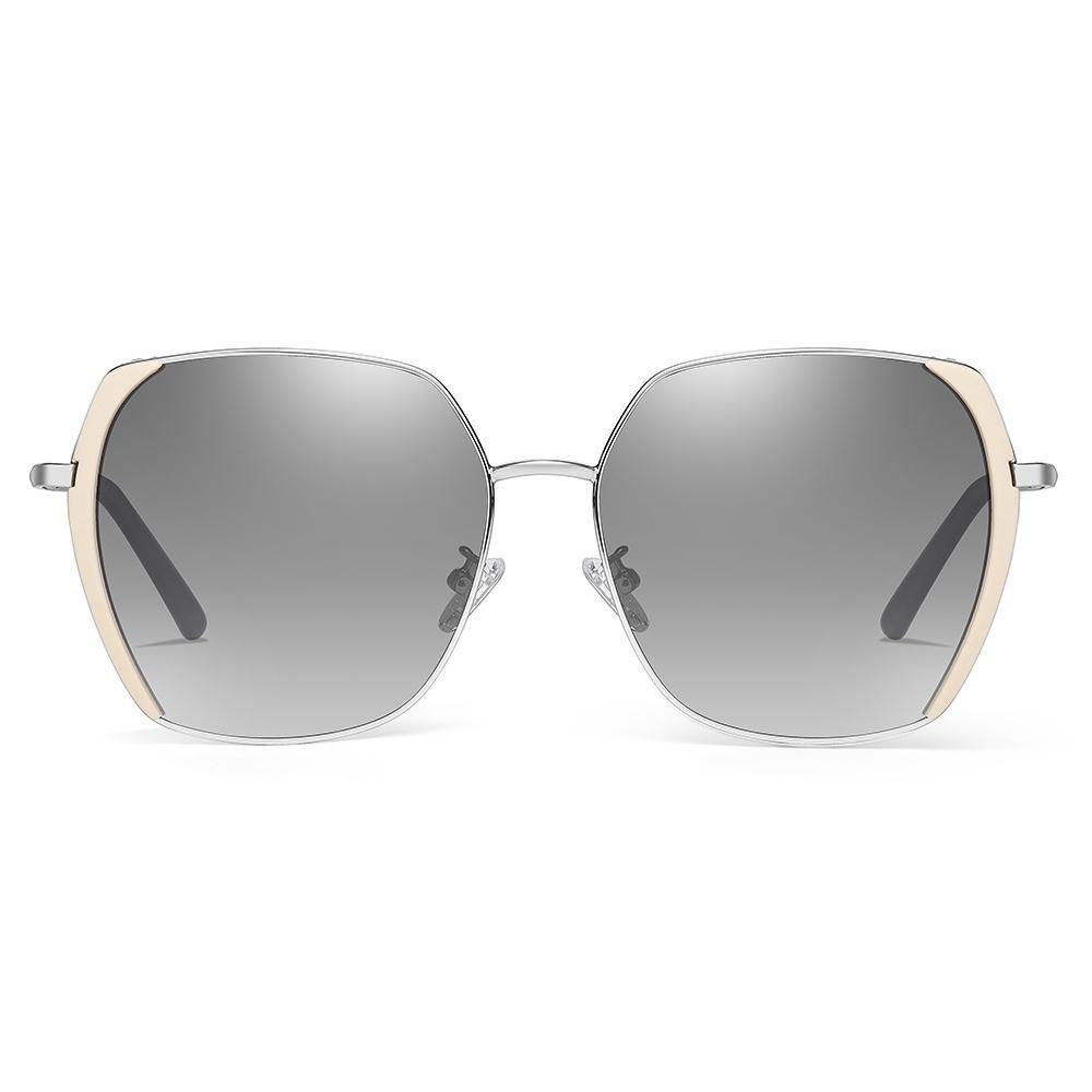 shades designed with grey gradient lenses and side pink trim