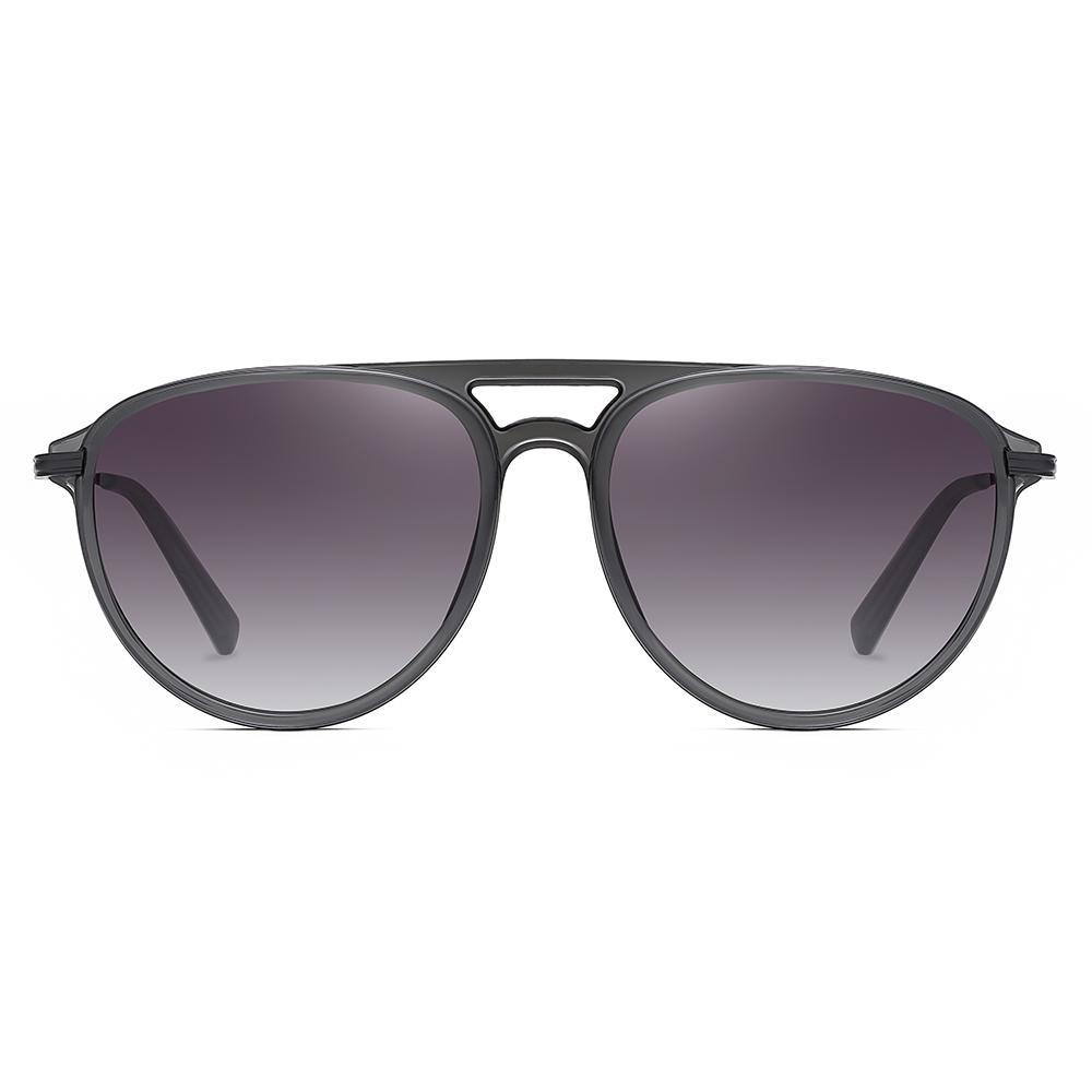 dark grey gradient sunglasses, double bridge
