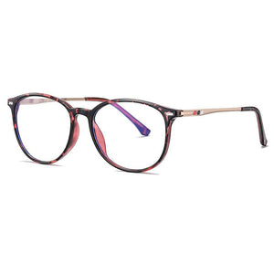 pink floral frames in cricular shape, gold temples with floral ending pieces