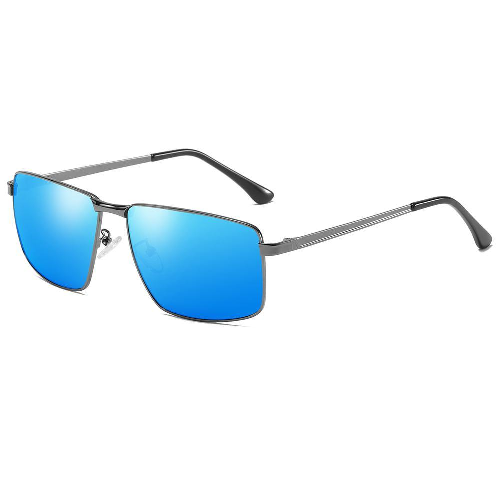 sunglasses blue lens in rectangular shaped for men