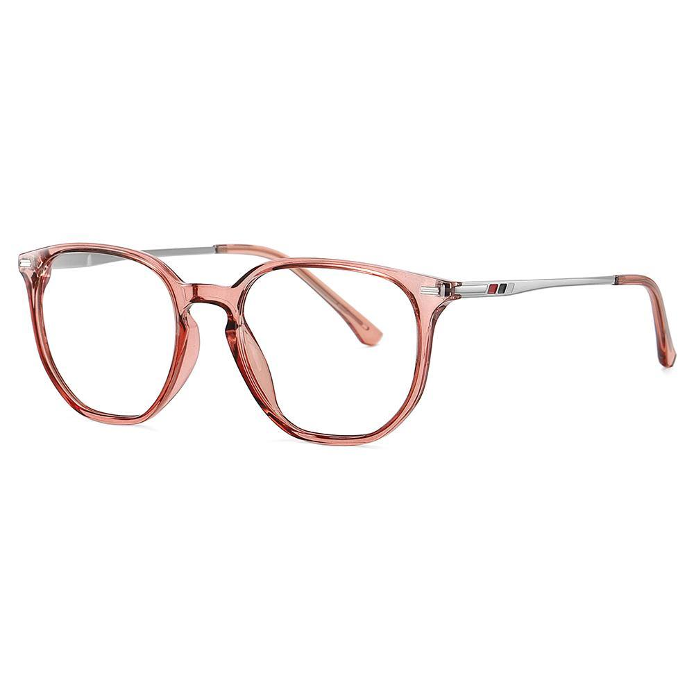 clear claret red eyeglases for women summer, for round face shape