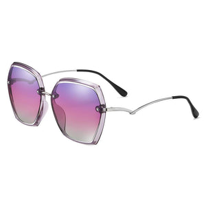 purple gradient lenses in geometric shaped shades