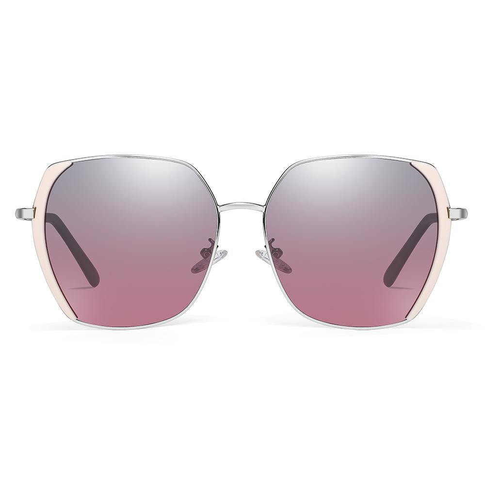 gray purple gradient lenses with pink side frame