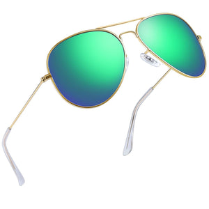 Joopin Classic Sunglasses for Women MenMetal_Frame_Mirrored_Lens_Designer_Polarized_Sun_glasses_UV400_green