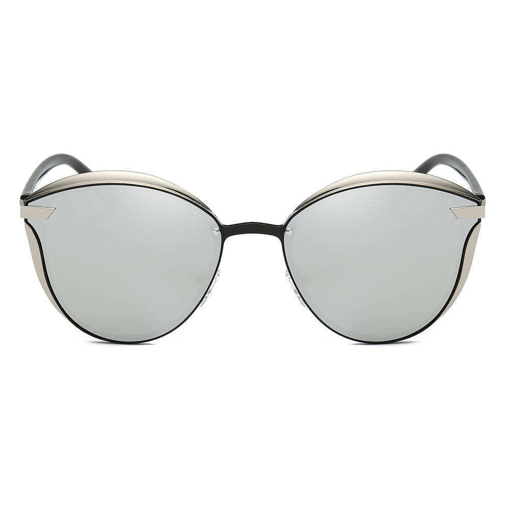 grey lens tint sunnies in phanto round shape