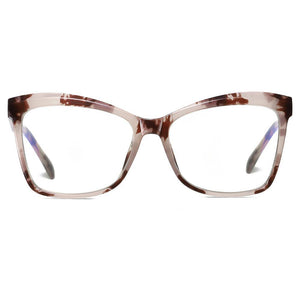brown floral frames in hipster square eyeglasses