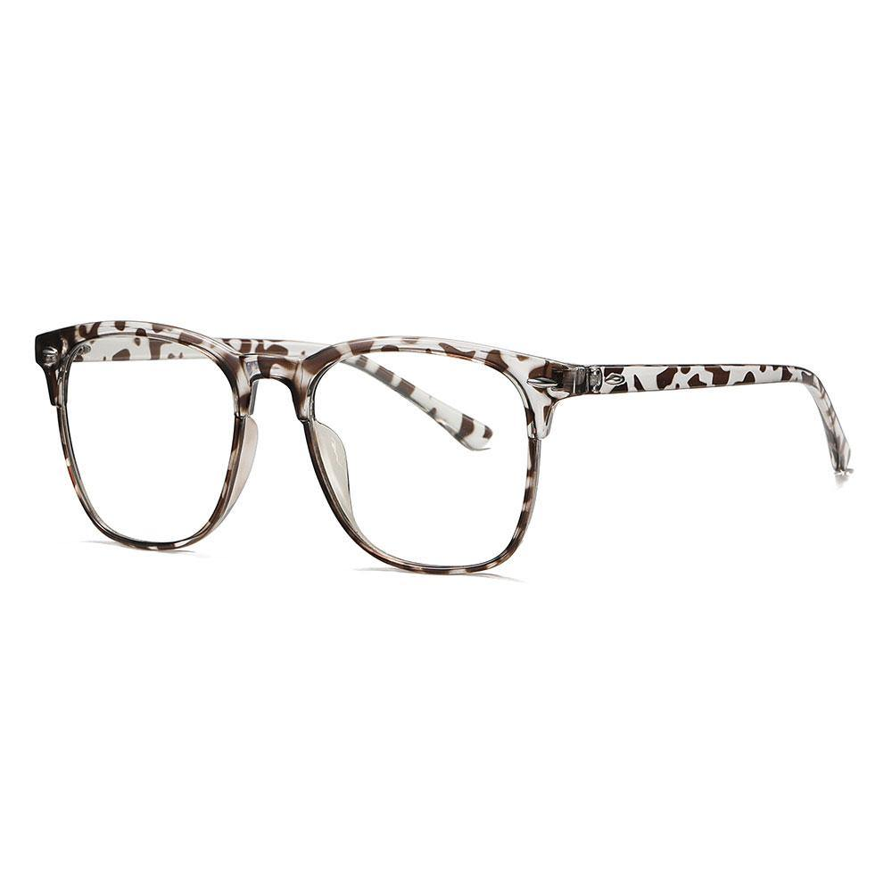 Tortoise square eyeglasses with photochromic lenses