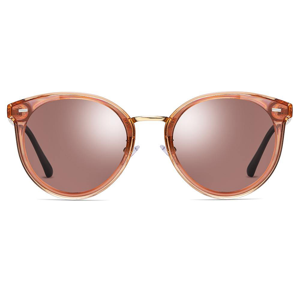 sunshades phanto round frame shape with jam red lens colors