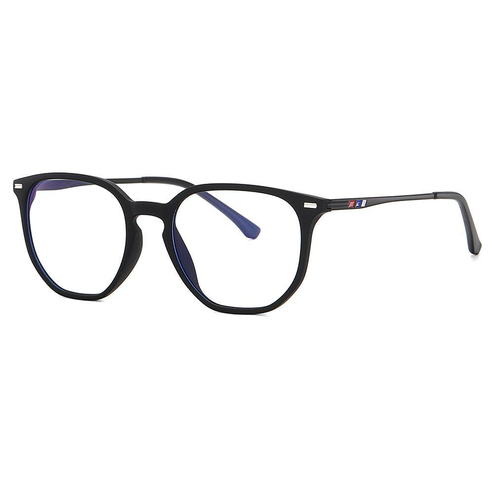 square black eyeglasses simple design for men women, KEYHOLE BRIDGE