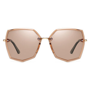 Light Brown Tint Lens Hexagon Shades