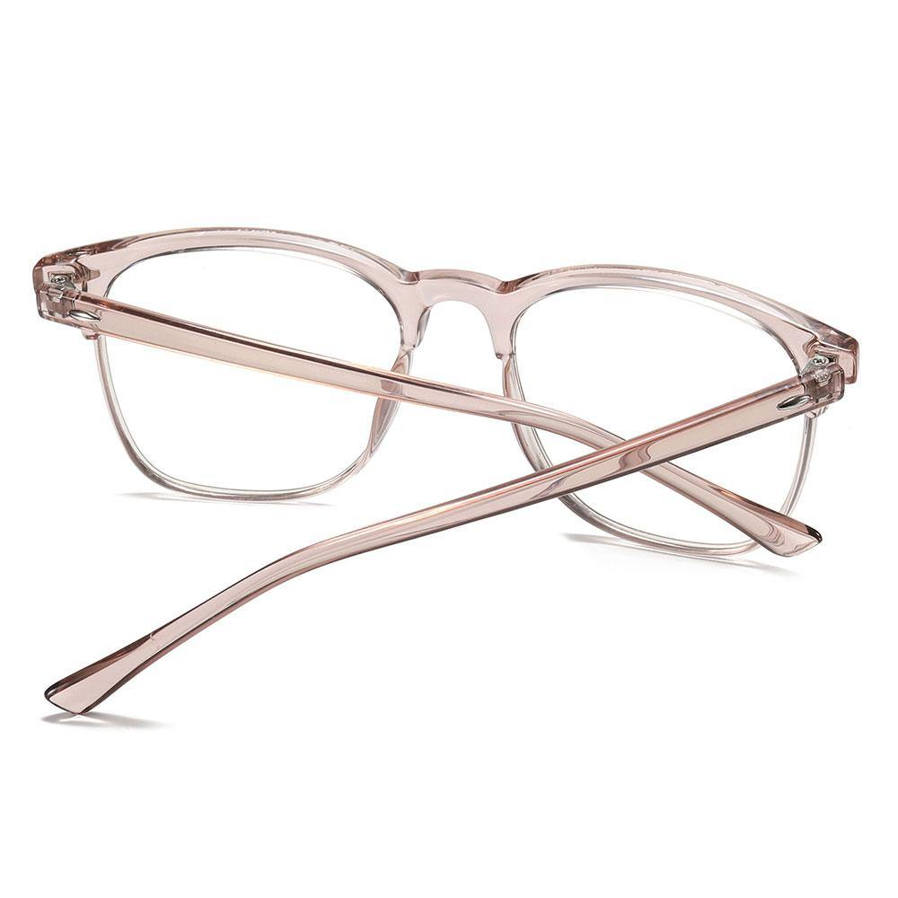 light pink temple arms for the square eyeglasses