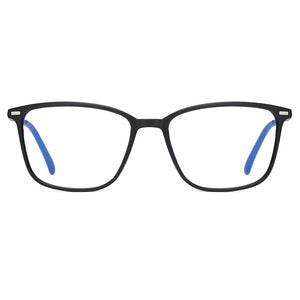 Men Rectangle eyeglasses in black frames
