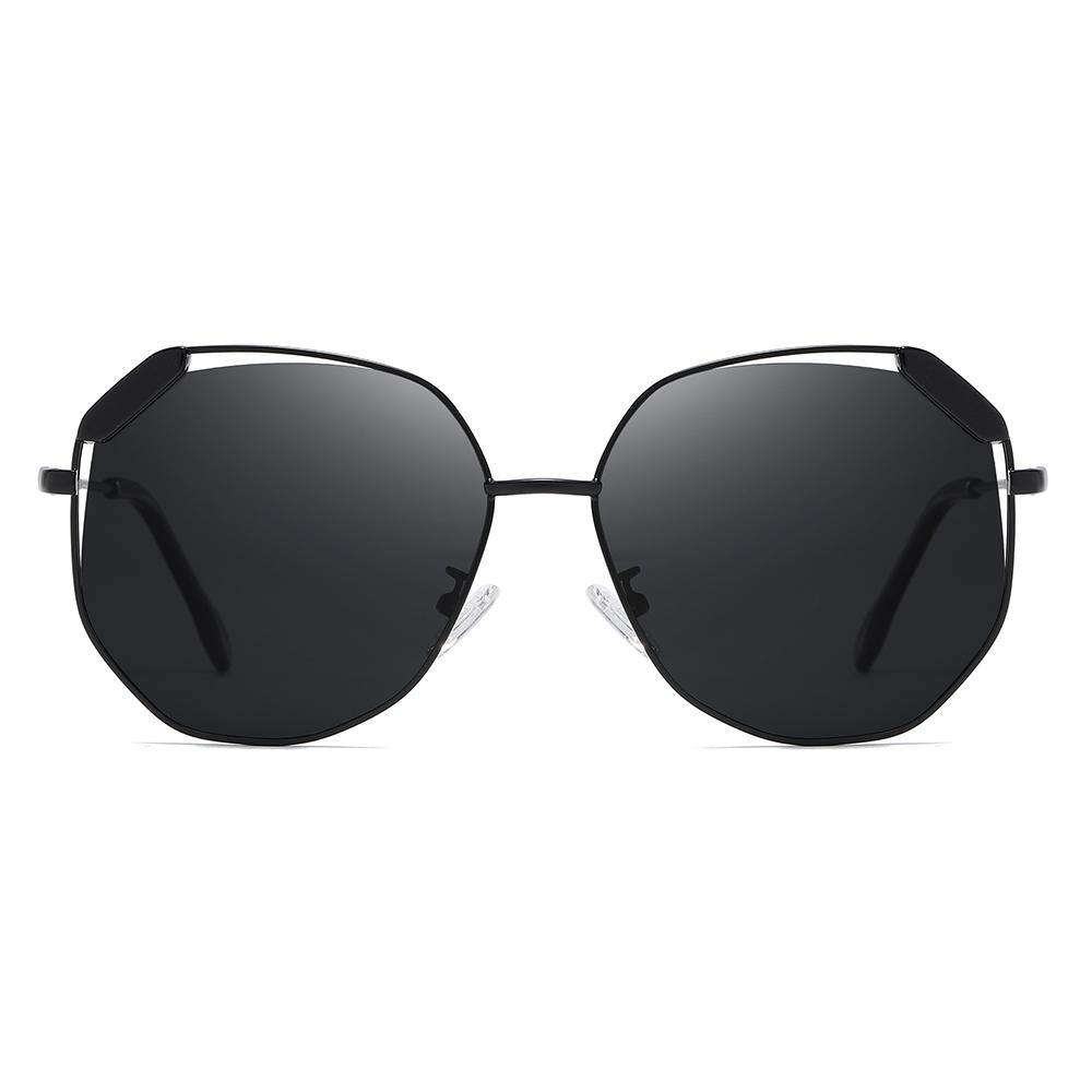 octagon shades full black frame