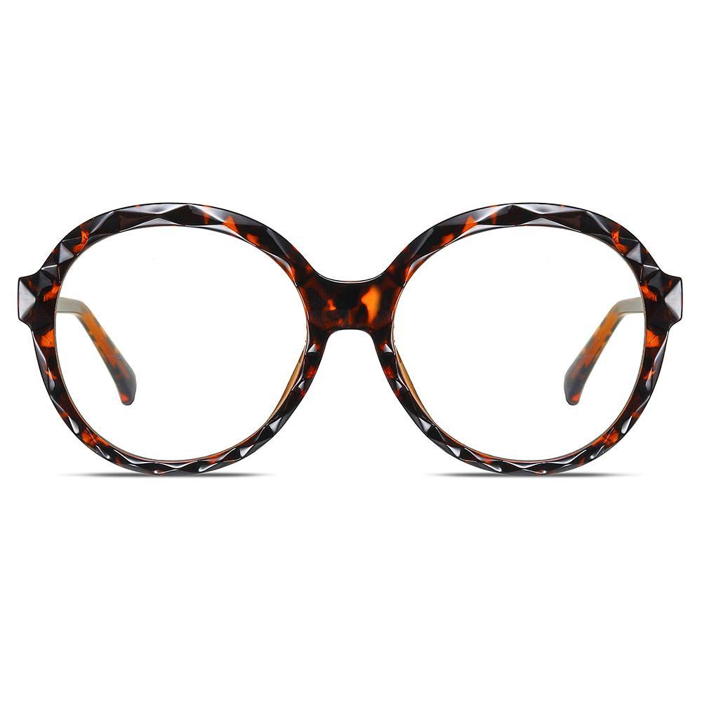oversized round eyeglasses frames in tortoise color
