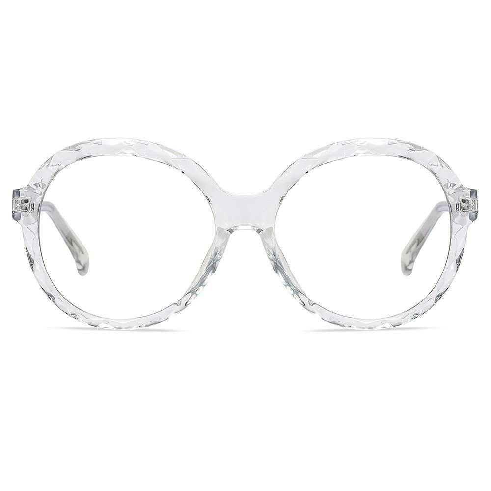 clear transparent glasses frames, big round circle