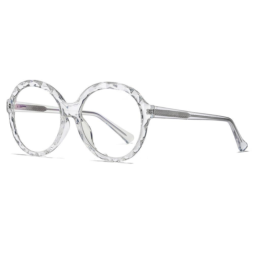 oversized round clear glasses