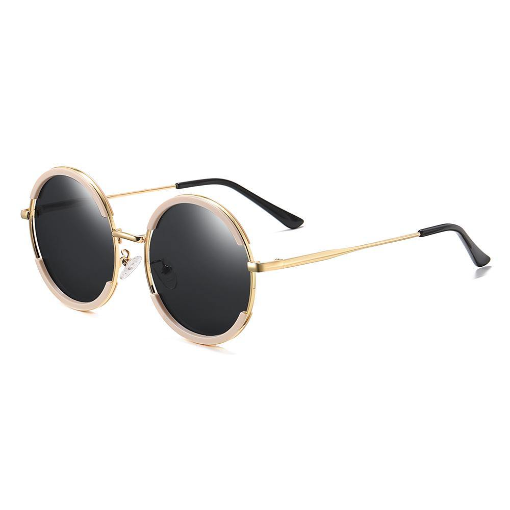 John lennon round shades with pink frame gold nose bridge