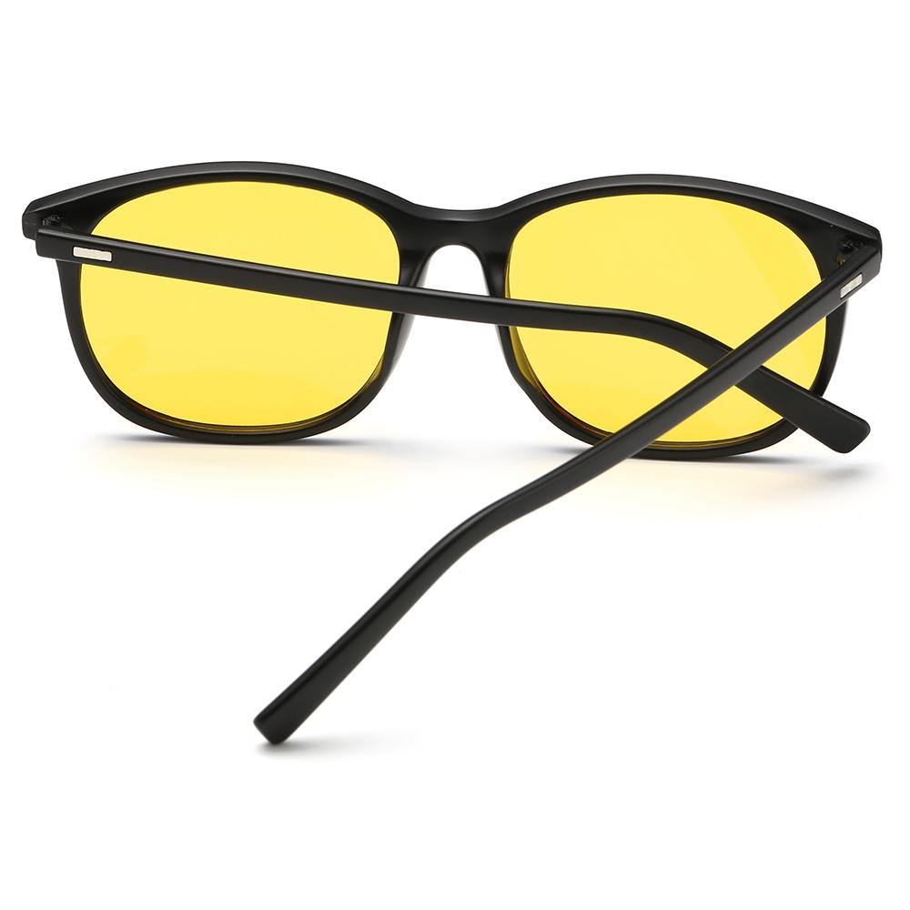 prescription eyeglasses with black temple arms