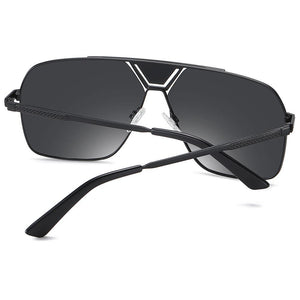 back view of this prescription polarized sunglasses, black temple arms