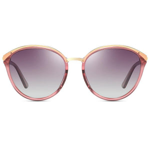 purple gradient lens with pink clear frames, top gold frames