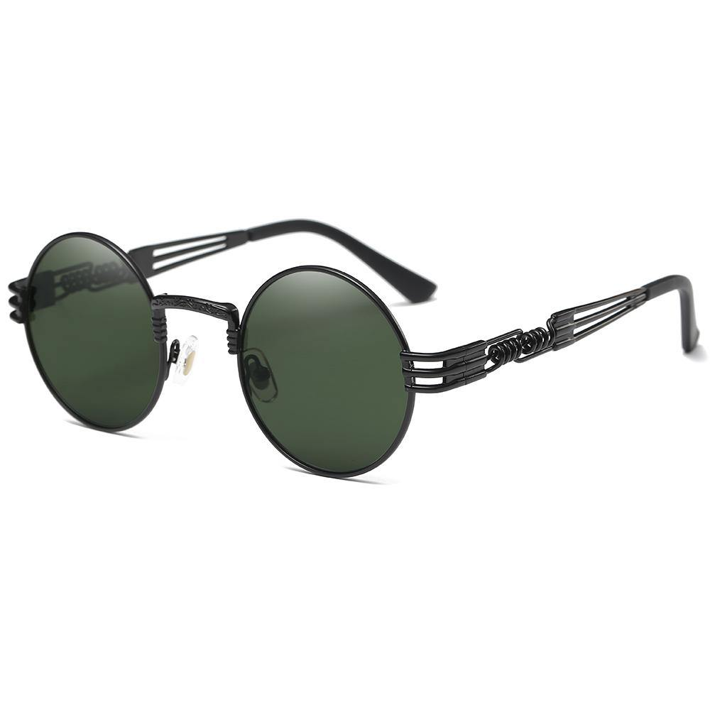 G15 Lens for Lennon Round Sunglasses, Gothic Steampunk Style, Screw Legs design, Thin Frames