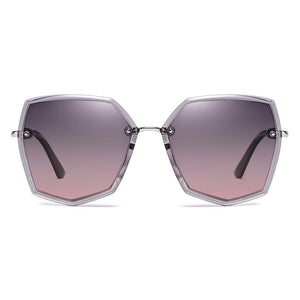 Purple Gradient Lens in Octagon Shaped Frame
