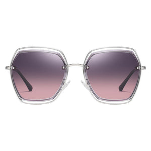 Purple gradient lens with silver frame