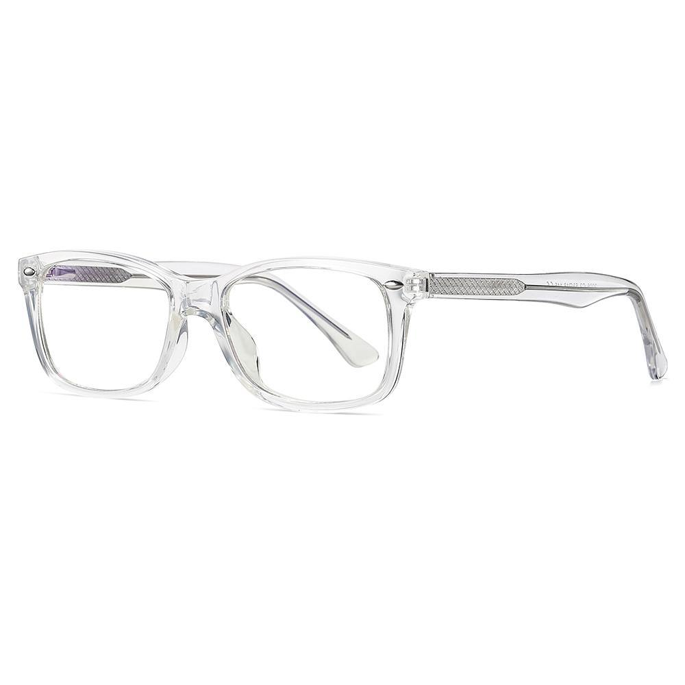 rectangle shape eyeglasses, clear transparent