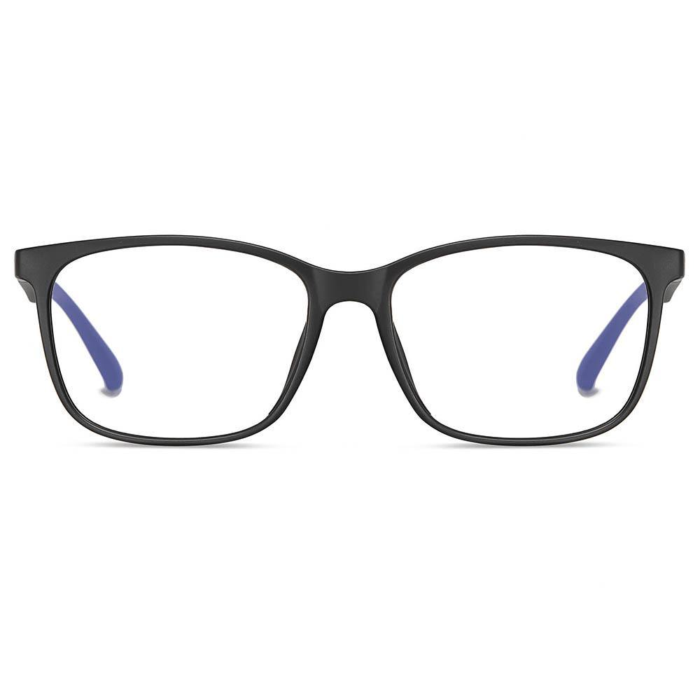 matt black rectangle eyeglasses for men