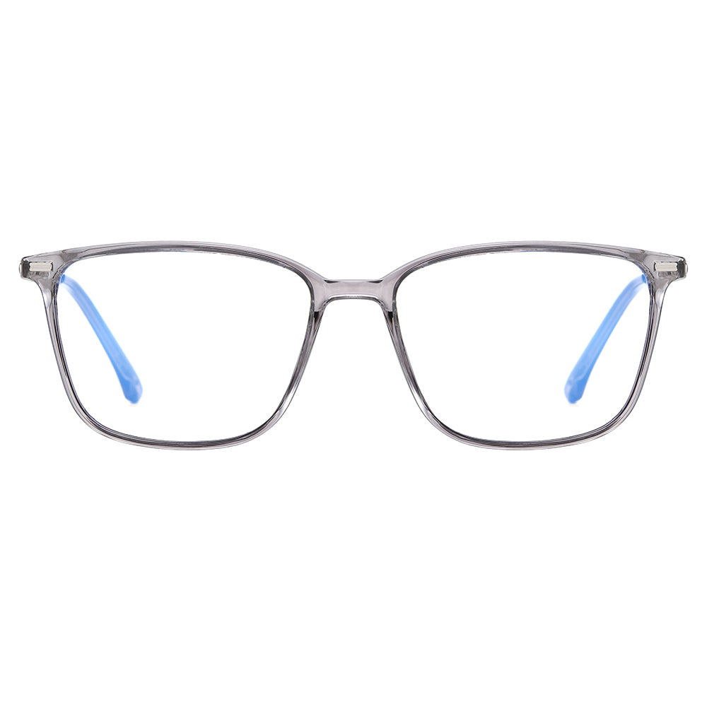 Dark grey rectangular eyeglasses frames