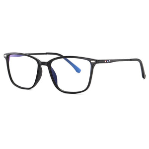 Rectangle eyeglasses with black frames and temple arms