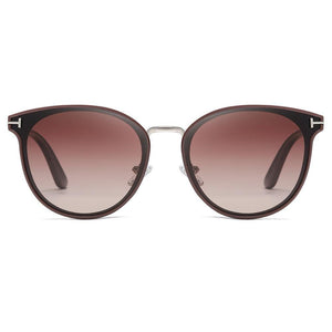 bungary wine red sunglasses in round phanto shape