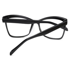 thick temple arms of square eyeglasses