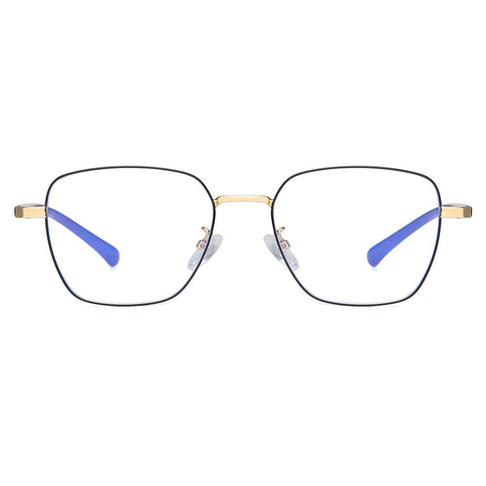 Retro rectangle square eyeglasses with black frames
