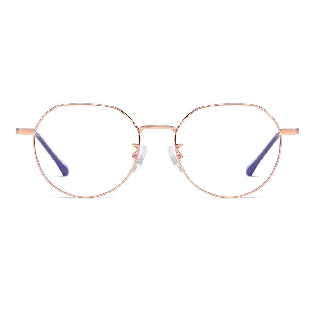 rose gold frame round eyeglasses