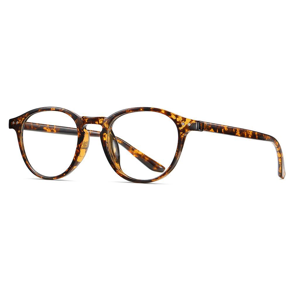 tortoise shell frames, one piece nose pad, small round shape