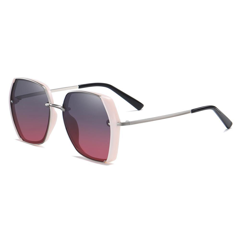 grey purple gradient lenses in pink trimmed square shape