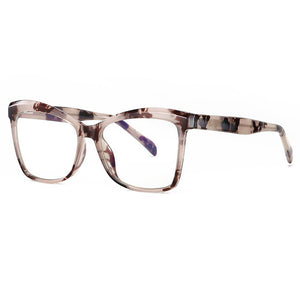 square eyeglasses in ivory tortorise frames for girl