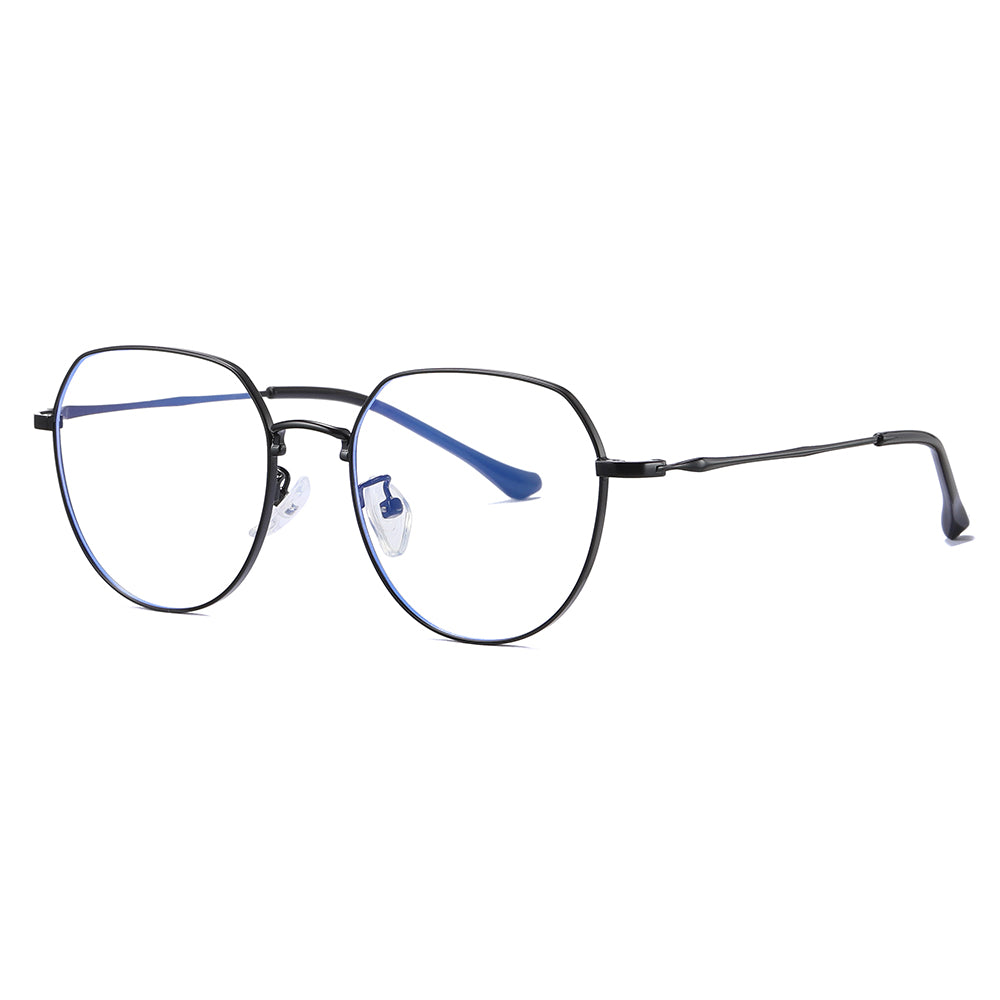square eyeglasses for women in black frame and temple arms