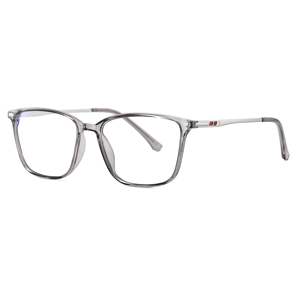 Grey rectangle Eyeglasses for men