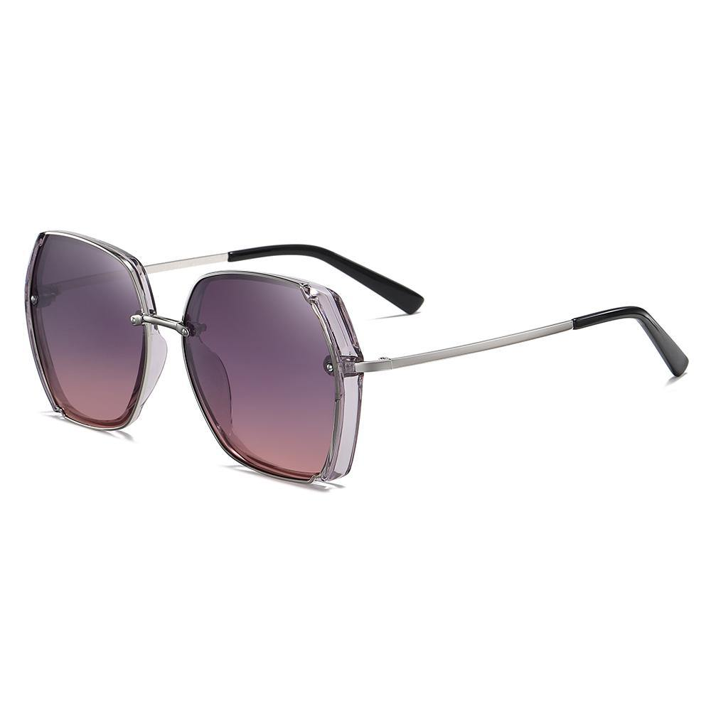 stylish square frames with purple gradient lens