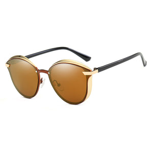 reno sand color lens with black temples, gold frames