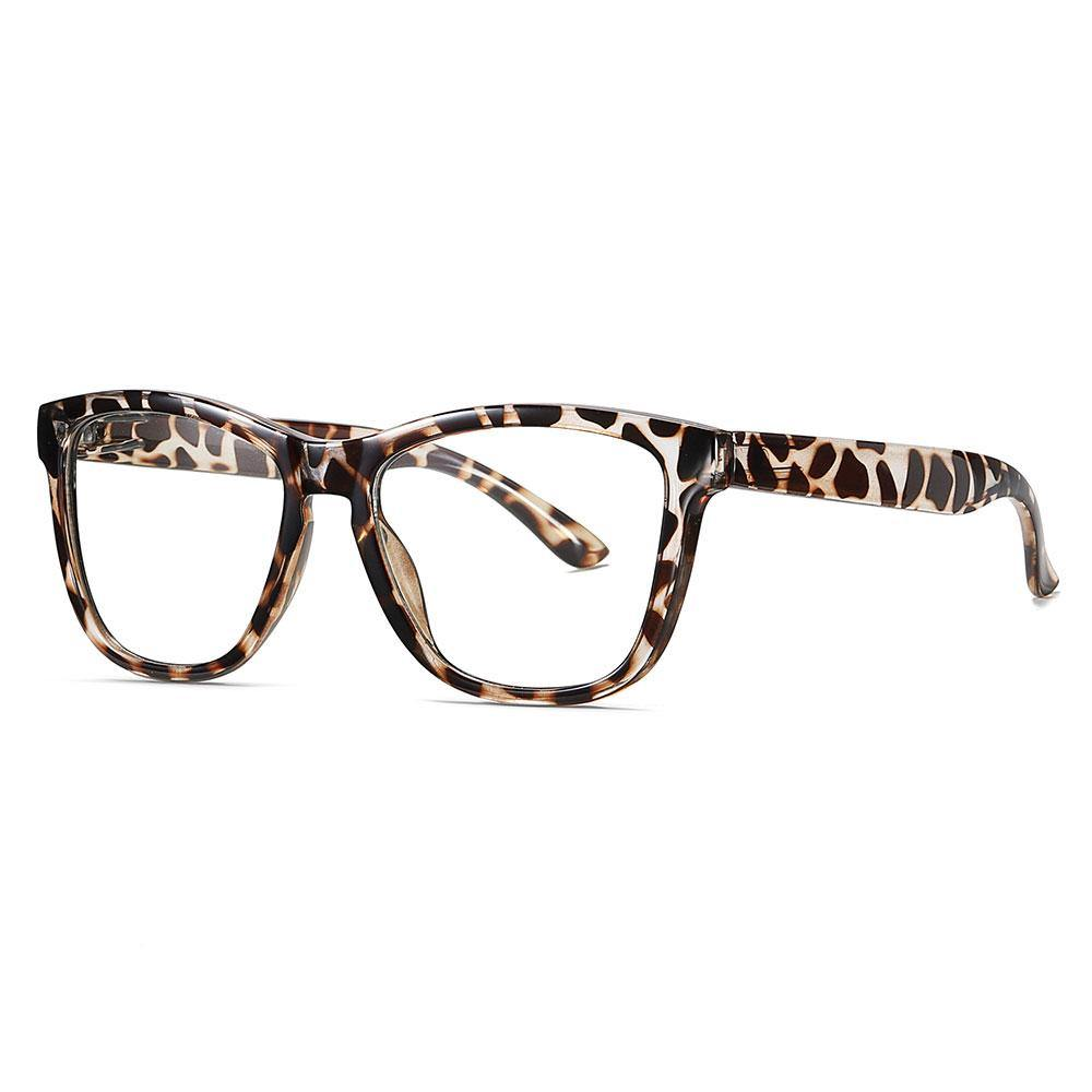 tortoise square eyeglasses with thick temple arms